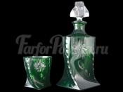 "Набор 7 пред. ""Квадро зеленый"" штоф 850 мл и 6 стаканов 340 мл"