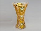 """Ваза для цветов """"Хрусталь с золотом Х"""" 30,5см."""
