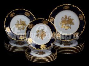 """Набор тарелок для сервировки стола """"Роза злотая АГ838"""" 18шт."""