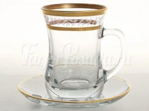 "Набор для чая 250 мл ""Золотой Лист"" Армуд на 6 перс. 12 пред."