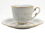 """Чашка с блюдцем 150 мл. """"Отводка золото Соната"""" Leander 1 пара"""