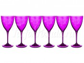 """Набор бокалов 250 мл 6 шт. """"Кейт D4789"""" фиолетовые"""