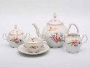 Чайный сервиз на 6 персон 17 предметов Бернадотт Полевой цветок