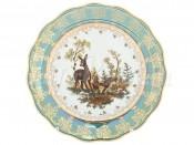 "Набор тарелок 25 см ""Охота зеленая Корона"""