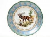 """Набор глубоких тарелок 23 см 6 шт. """"Охота зеленая"""" Корона"""