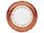 """Набор закусочных тарелок 21 см 6 шт. """"Лист красный"""" Sterne"""