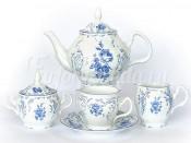 """Сервиз чайный """"Синий орнамент 4074"""" Бернадотт на 6 перс. 15 пред."""