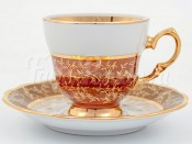 """Набор для кофе 140 мл """"Красный лист"""" на 6 перс. 12 пред."""