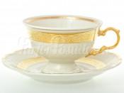 """Набор для чая 230 мл """"Золотая лента Айвори"""" Мария Луиза на 6 перс. 12 пред."""