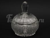 Хрустальная ваза для конфет с крышкой 16 см.