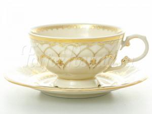 """Набор для чая 200 мл """"Изящное золото SK"""" Соната на 6 перс. 12 пред."""