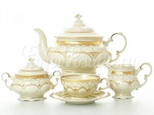 """Сервиз чайный """"Изящное золото SK"""" Соната на 6 перс. 15 пред."""
