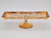 Рулетница 45,5 см. на ноге хрусталь с золотом