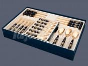 Набор столовых приборов на 6перс. 24пред. с фарфоровыми ручками Веймар 0819