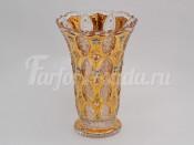 Ваза для цветов 40.5 см хрусталь с золотом