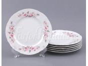 """Набор десертных тарелок 19 см 6 шт. """"Бернадотте Роза серая платина""""."""