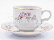 """Набор для кофе 120 мл """"Дикая роза золото"""" Бернадотт на 6 перс. 12 пред."""