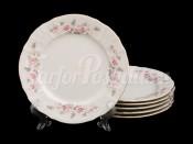 """Набор постановочных  тарелок 25 см 6 шт. """"Бернадотте Серая роза"""""""