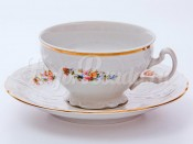 """Набор для чая """"Бернадотт 03011"""" чашка 155 мл. и блюдце на 6 персон 12 предметов низкие на ножке"""