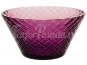 """Ваза для конфет 18 см """"Ромб"""" фиолетовая"""