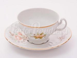 """Набор для чая """"Бернадотт 23011"""" чашка 155 мл. и блюдце на 6 персон 12 предметов низкие на ножке"""