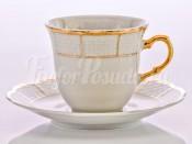 """Набор для чая """"Натали 0600"""" чашка 155 мл. и блюдце на 6 персон 12 предметов высокие"""