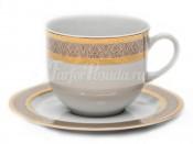 """Набор для чая """"Опал 0700"""" чашка 155 мл. и блюдце на 6 персон 12 предметов высокие"""
