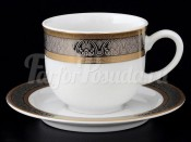 """Набор для чая """"Опал"""" чашка 135 мл. и блюдце на 6 персон 12 предметов высокие"""