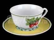 """Набор для чая """"Роза 30200"""" чашка 150 мл. и блюдце на 6 персон 12 предметов низкие"""