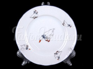 """Набор тарелок """"Гуси"""" 17 см."""
