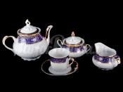 """Сервиз чайный """"Констанция синяя"""" на 6 персон 15 предметов"""