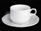 """Набор для чая """"Бернадотт 0000"""" чашка 250 мл. и блюдце на 6 персон 12 предметов низкие"""