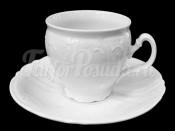 """Набор для чая """"Бернадотт 0000"""" чашка 160 мл. и блюдце на 6 персон 12 предметов высокие на ножке"""