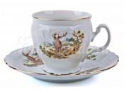 """Набор для чая """"Бернадот Охота"""" чашка высокая 160 мл. и блюдце на 6 персон 12 предметов"""