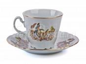 """Набор для чая """"Бернадот Охота"""" чашка 160 мл. и блюдце на 6 персон 12 предметов"""