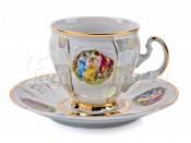 """Набор для кофе """"Бернадот Мадонна"""" чашка высокая 140 мл. и блюдце на 6 персон 12 предметов"""