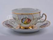 """Набор для чая """"Бернадот Мадонна"""" чашка низкая 155 мл. и блюдце на 6 персон 12 предметов"""