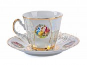 """Набор для чая """"Бернадот Мадонна"""" чашка 160 мл. и блюдце на 6 персон 12 предметов"""