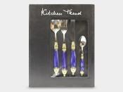 "Набор столовых приборов ""Kitchen Trend"" Синий перламутр 24 предмета на 6 персон"