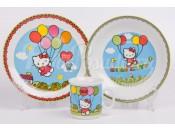 "Детский набор ""Hello Kitty"" синий 3 предмета"