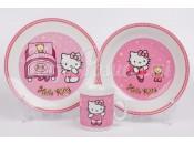 "Детский набор ""Hello Kitty"" розовый 3 предмета"