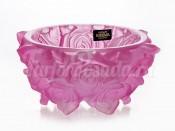"""Ваза для конфет """"Фрост Розы розовые"""" 16.5cм."""